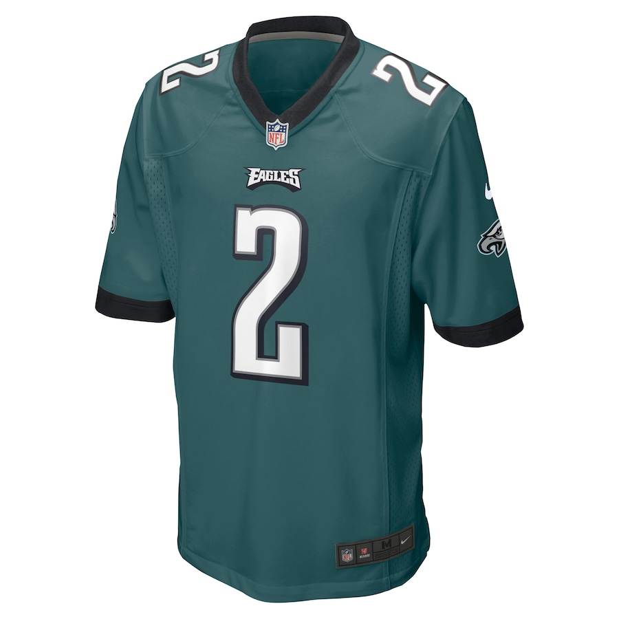 Jalen Hurts Philadelphia Eagles Nike 2020 NFL Draft Pick Game Jersey - Midnight Green