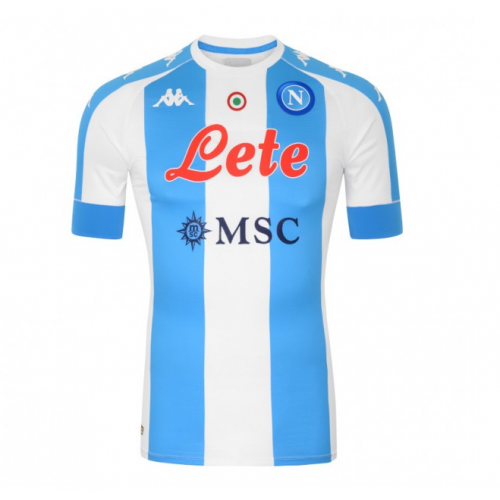 20/21 Napoli Fourth Away Blue&White Soccer Jerseys Shirt(Player Version)