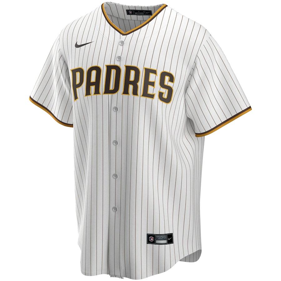 Men's San Diego Padres Nike White&Brown Home 2020 Replica Custom Jersey