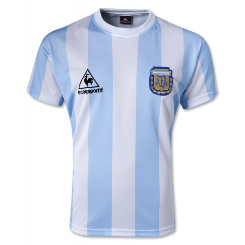 1986 World Cup Argentina Home Blue&White Retro Soccer Jerseys Shirt(Player Version)