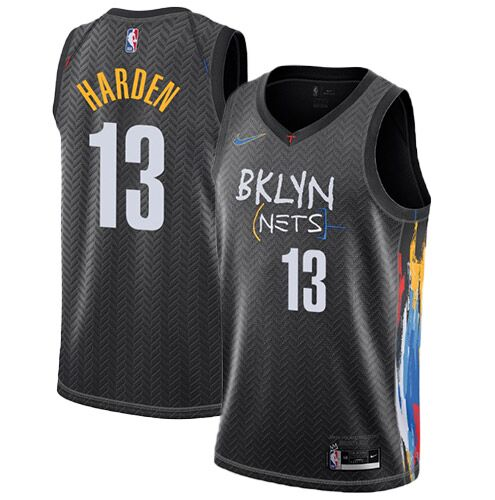 Men's Brooklyn Nets James Harden #13 Nike Black 2020/21 Swingman Jersey - City Edition