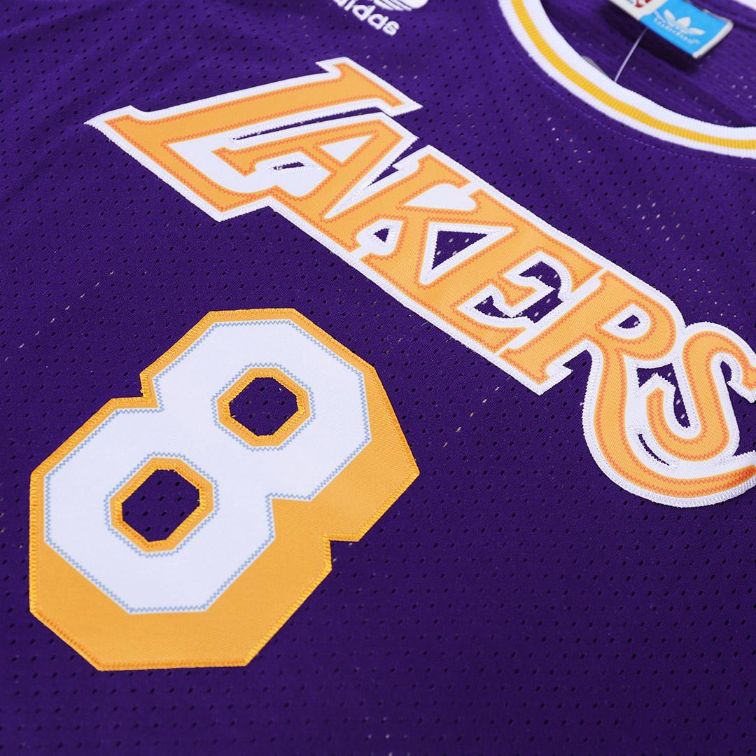 Men's Los Angeles Lakers Kobe Bryant No.8 Purple Jersey - Retro Edition