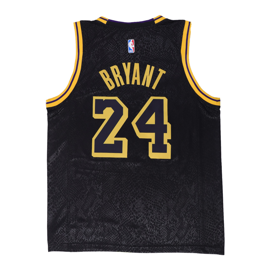 Men's Los Angeles Lakers Kobe Bryant #8 & #24 Black Swingman Jersey