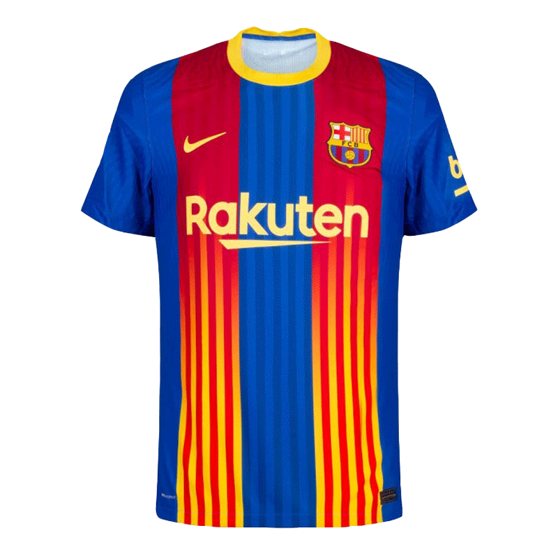 20/21 Barcelona Forth Away Light Red&Blue Soccer Jerseys Shirt(Player Version)