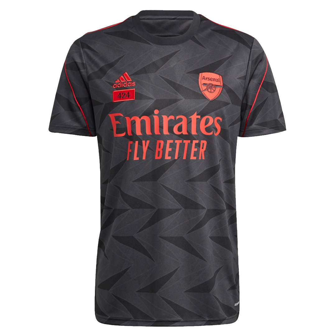 20/21 Arsenal Adidas×424 Black Soccer Jerseys Shirt (Player Version)