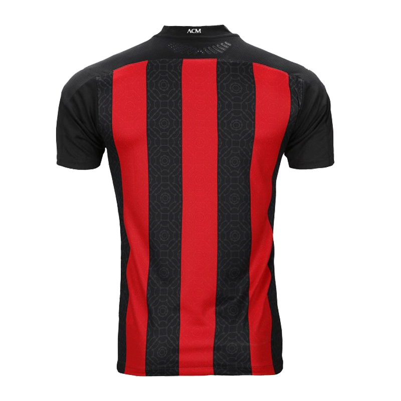 20/21 AC Milan Home Black&Red Soccer Jerseys Shirt(Player Version)