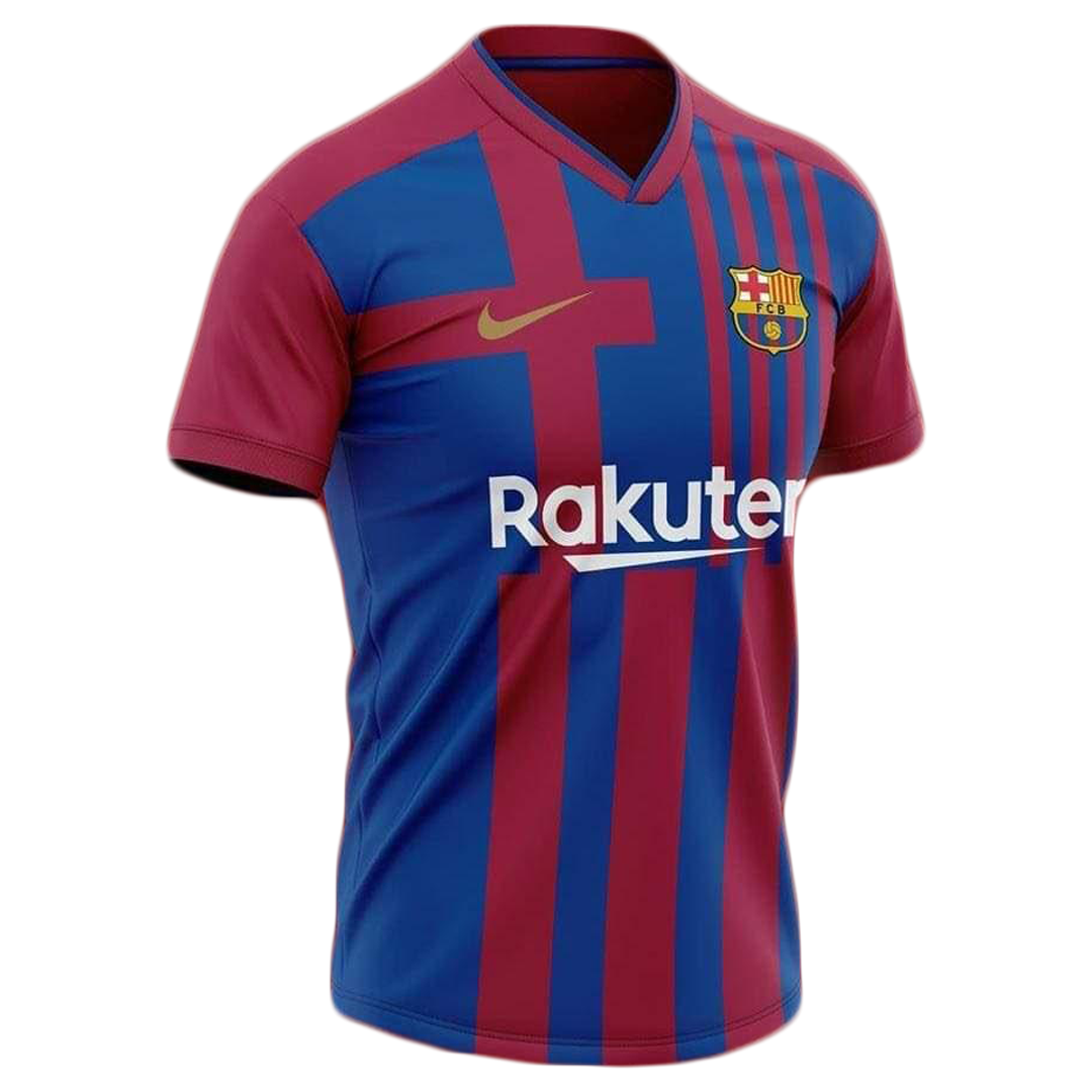 21/22 Barcelona Home Blue&Red Soccer Jerseys Shirt(Player Version)