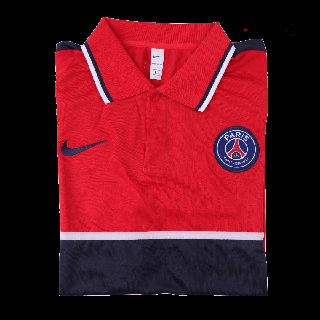 20/21 PSG Grand Slam Polo Shirt-Red&Navy