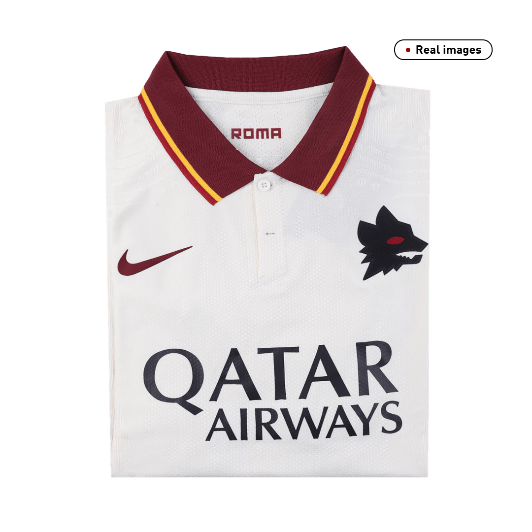 20/21 Roma Away White Soccer Jerseys Shirt(Player Version)