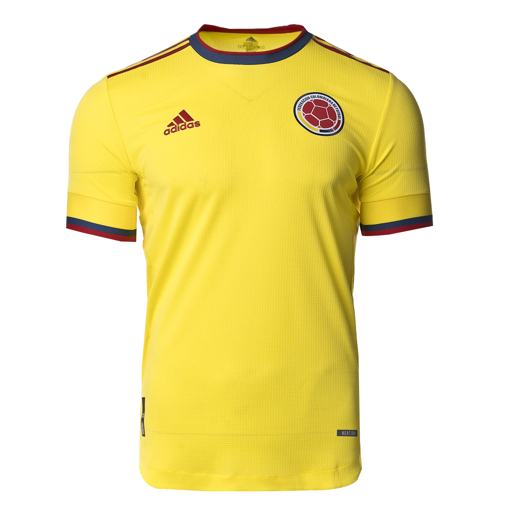 2021 Colombia Home Yellow Soccer Jerseys Shirt