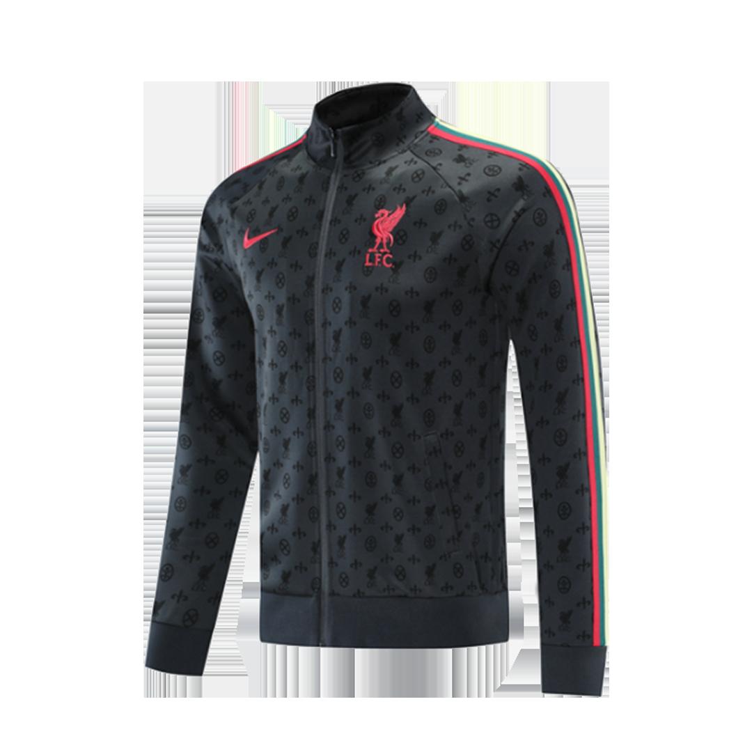 21/22 Liverpool Gray High Neck Collar Training Jacket