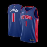 Detroit Pistons Jersey Reggie Jackson #1 NBA Jersey