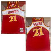 Atlanta Hawks Jersey Wilkins #21 NBA Jersey 1986-87