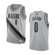 Portland Trail Blazers Damian Lillard #0 Nike Grey 20/21 Swingman NBA Jersey– Earned Edition