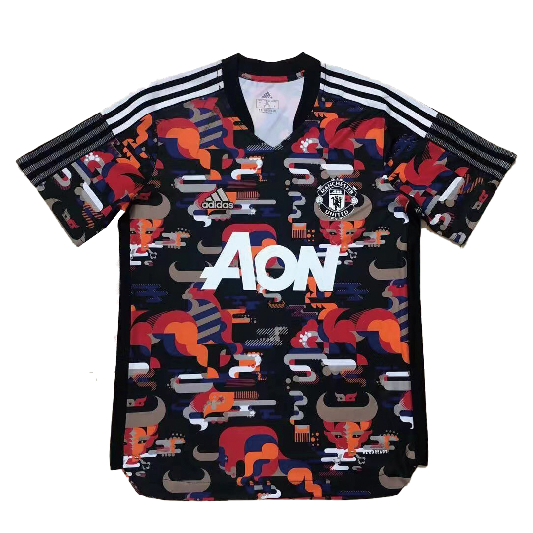Adidas Manchester United Training Soccer Jersey 2021-Cow Year