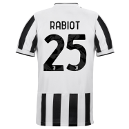 Juventus Jersey Custom Home RABIOT #25 Soccer Jersey 2021/22