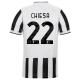 Juventus Jersey Custom Home CHIESA #22 Soccer Jersey 2021/22