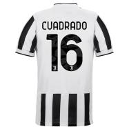 Juventus Jersey Custom Home CUADRADO #16 Soccer Jersey 2021/22