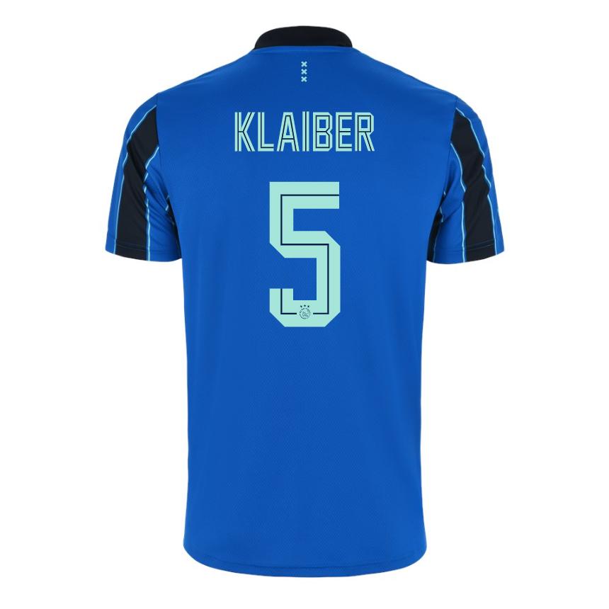 Ajax Jersey Away KLAIBER #5 Soccer Jersey 2021/22