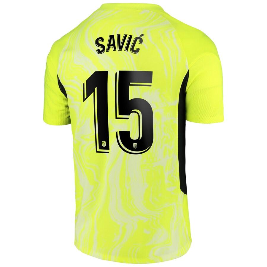 Atletico Madrid Jersey Custom Third Away SAVIĆ #15 Soccer Jersey 2020/21