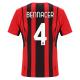 AC Milan Jersey Custom Home BENNACER #4 Soccer Jersey 2021/22