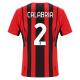 AC Milan Jersey Custom Home CALABRIA #2 Soccer Jersey 2021/22
