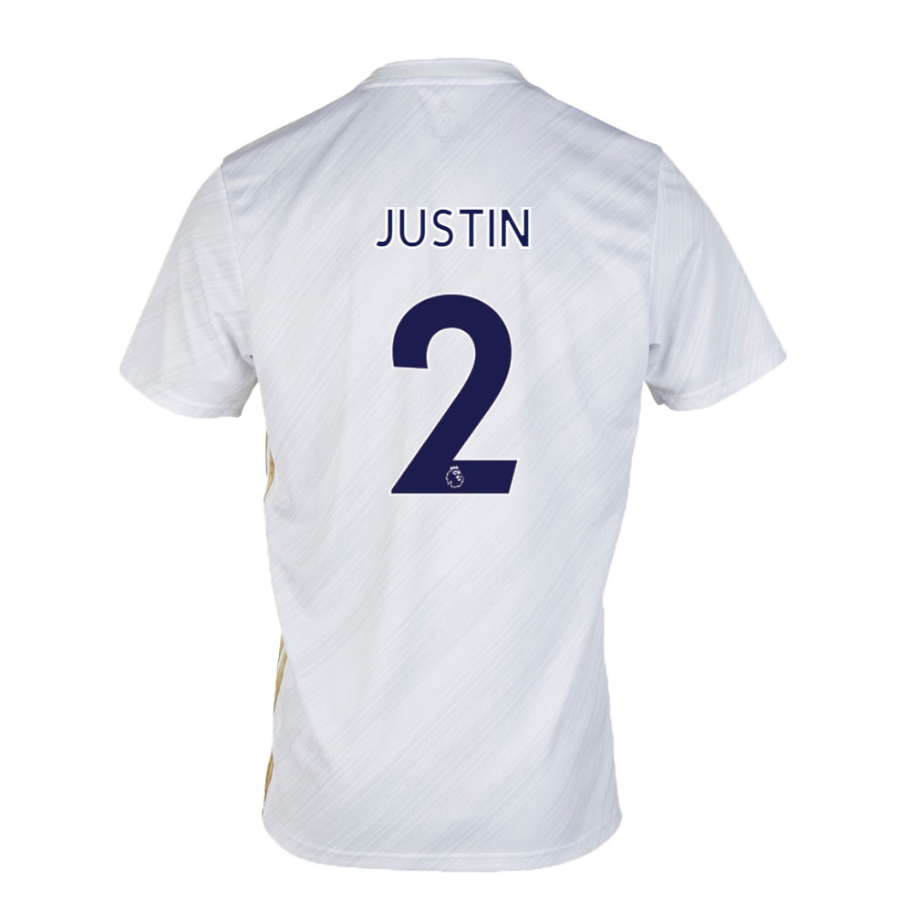 Leicester City Jersey Away JUSTIN #2 Soccer Jersey 2020/21
