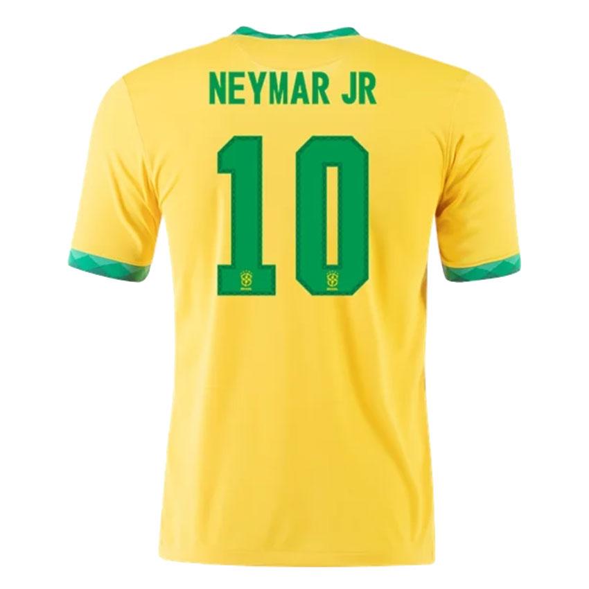 Brazil Jersey Custom Home NEYMAR JR #10 Soccer Jersey 2021