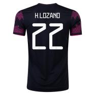 Mexico Jersey Custom Home H.LOZANO #22 Soccer Jersey 2021