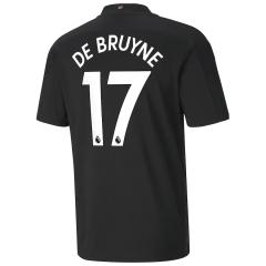Manchester City Jersey Custom Away DE BRUYNE #17 Soccer Jersey 2020/21