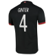 Germany Jersey Custom Away GINTER #4 Soccer Jersey 2020