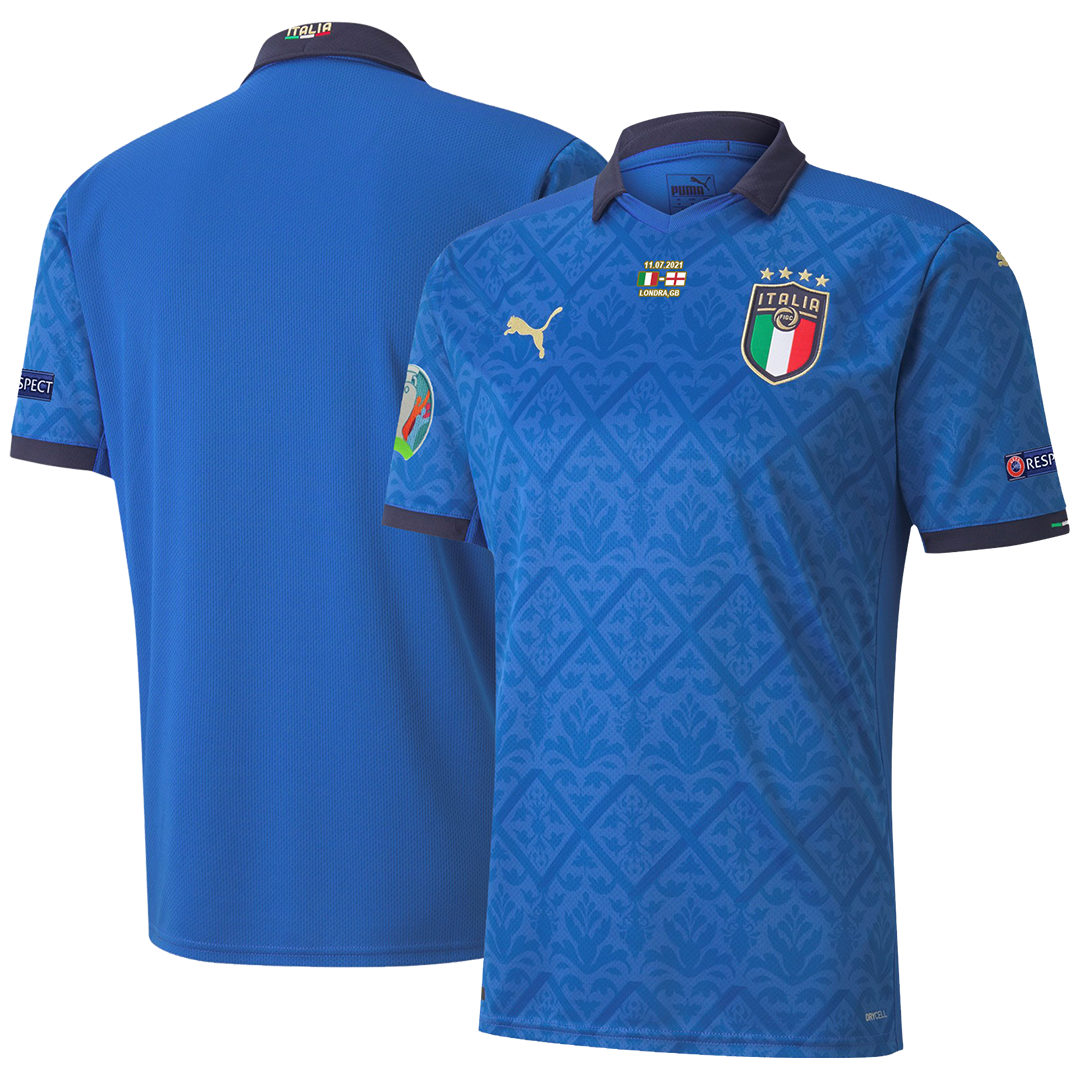 Italy Home Soccer Jersey Euro 2020 Final Version