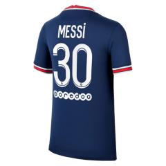 PSG Jersey Custom Home Messi #30 Soccer Jersey 2021/22