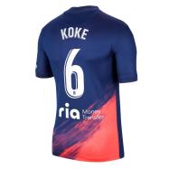 Atletico Madrid Jersey Custom Away KOKE #6 Soccer Jersey 2021/22