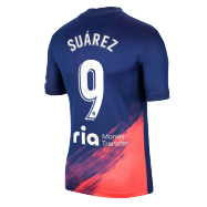 Atletico Madrid Jersey Custom Away SUÁREZ #9 Soccer Jersey 2021/22