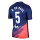 Atletico Madrid Jersey Custom Away R.DE PAUL #5 Soccer Jersey 2021/22