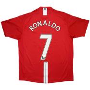 Manchester United Jersey RONALDO #7 Home Soccer Jersey 2007/08
