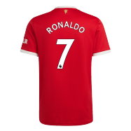 Manchester United Jersey Custom Home RONALDO #7 Soccer Jersey 2021/22
